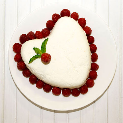 Coeur à la Crème with Grand Marnier Raspberry Sauce