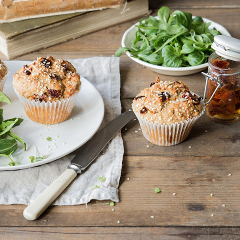 Savoury MUFFINS with smoked salmon and sun dried tomatoes