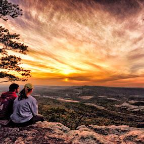 Sunset Peek by Abet Rhupert - Landscapes Sunsets & Sunrises