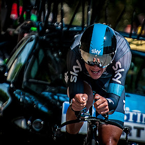 Tour de France 2013 , Richie Porte by Pascal Aunai - Sports & Fitness Cycling ( tour de france, ricie porte, cycling, sport, cyclisme, velo, contre la montre, Bicycle, Sport, Transportation, Cycle, Bike, ResourceMagazine, Outdoors, Exercise, Two Wheels )