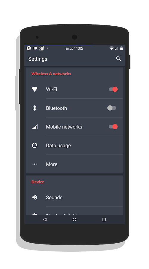 Slated MTRL - Red CM13 Theme Screenshot