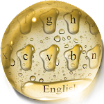 Golden Drops Keyboard Icon
