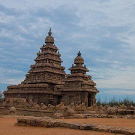 Mahabalipuram Shore Temple by Vijai Ganesh - Buildings & Architecture Public & Historical ( temple, monuments, shore temple, india, historical, mahabalipuram, chennai, tamil nadu )