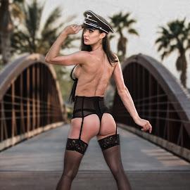 Always Salute an Officer by David Senecal - Nudes & Boudoir Boudoir