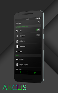 Sense Black/Green cm13 theme- screenshot thumbnail