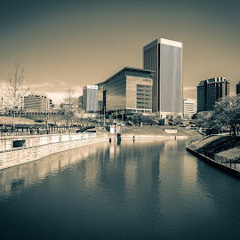 Browns Island by Todd Crenshaw - Buildings & Architecture Office Buildings & Hotels ( off color, richmond, virginia, landscape, city )