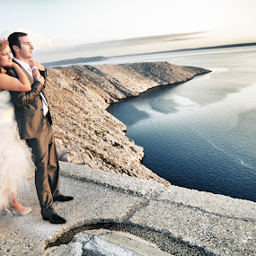 wedding bride groom bridge lanscape by Boštjan Vučak - Wedding Bride & Groom ( love, wedding, lanscape, bride, groom )