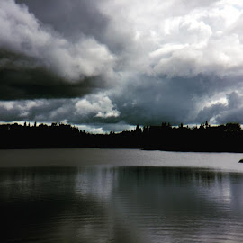 Low Clouds #stormclouds #lowclouds#hickslakespring2016 by Debbie Squier-Bernst - Landscapes Cloud Formations