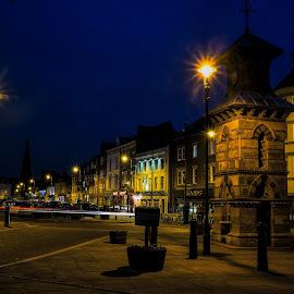 The Old Clock Tower by Phil Robson - City,  Street & Park  Night ( northumberland, clock tower, blue hour, tynemouth, night )