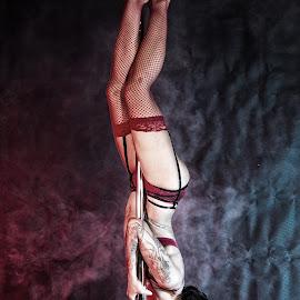 by Gary Bradshaw - Nudes & Boudoir Boudoir ( poledancer, poledance, sexy, lingerie, brunette )