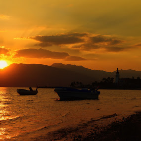 Subic Bay Sunset by Arjay Jimenez - Landscapes Sunsets & Sunrises