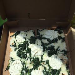 Veggie #8... Sautéed spinach, garlic, mozzarella and ricotta cheese... Amazing!! This is their