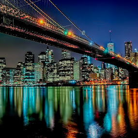 Brooklyn Bridge by Pictures that Pop - City,  Street & Park  Skylines