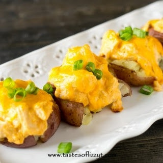 Buffalo Chicken Smashed Potatoes