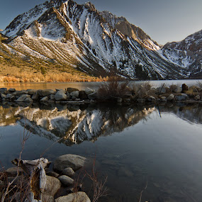 Early Morning at Convict Lake #2 by Bud Walley - Landscapes Mountains & Hills (  )
