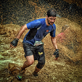 Noronha by Marco Bertamé - Sports & Fitness Other Sports ( water, splatter, splash, differdange, 2015, naronha, number, soup, waterdrops, running, luxembourg, mud, strong, blue, philippe, drops, dirty, brown, strongmanrun, man, 1165 )