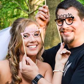 Having alittle fun! by Rebekah Cameron - Wedding Bride & Groom