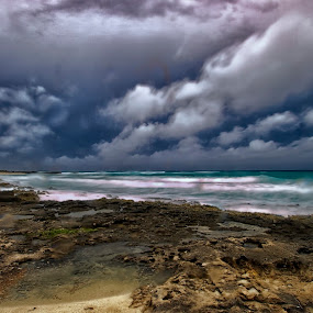 cozumel clouds by Cristobal Garciaferro Rubio - Landscapes Cloud Formations ( caribbean sea, clouds, shore, waves, mexico, cozumel, beach )
