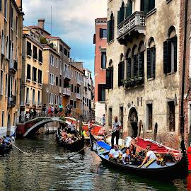 Gondola Parade by Francis Xavier Camilleri - City,  Street & Park  Historic Districts