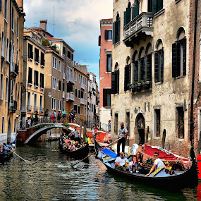 Gondola Parade by Francis Xavier Camilleri - City,  Street & Park  Historic Districts (  )