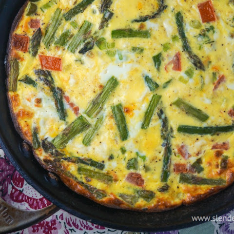 Asparagus and Tomato Frittata with Feta