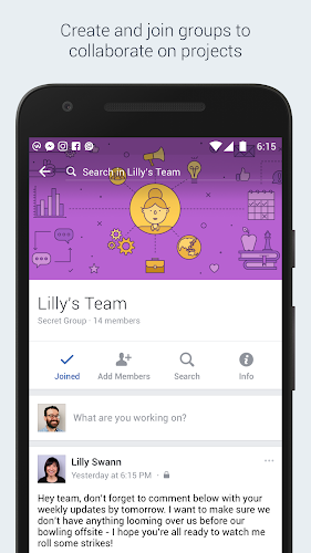 Workplace by Facebook Android App Screenshot