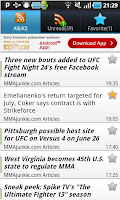 Screenshot of MMA NewsArena