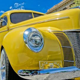 So Yellow by Barbara Brock - Transportation Automobiles ( classic car, yellow automobile, collectible car, yellow car, antique car )