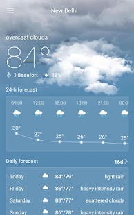 Weather Radar & Forecast Screenshot