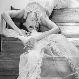 U turn me upside down by Diana Toma - Wedding Bride ( wedding, veil, bride, bride's dress )