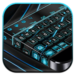 Tech Black Blue Keyboard Icon