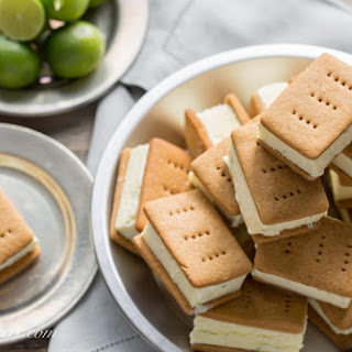 Key Lime Pie Gelato Sandwiches