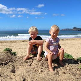 In The Dunes by Geoffrey Wols - Babies & Children Toddlers ( water, umina, sand, children, beach )