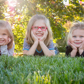 Sweet Sisters by Sarah Scully - Babies & Children Child Portraits ( girls, sisters, outdoor photography, family, kids, portraits )