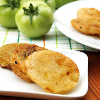 Paleo Fried Green Tomatoes (tempura style)