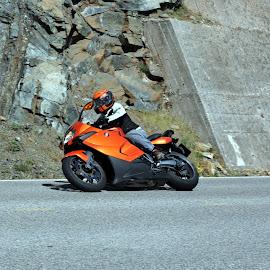 motor bike by Claude Huguenin - Sports & Fitness Motorsports ( curve, mountain, bike, speed, race )