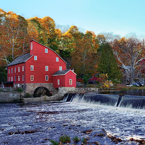 The Red Mill, Clinton, NJ by Lanis Rossi - Buildings & Architecture Public & Historical