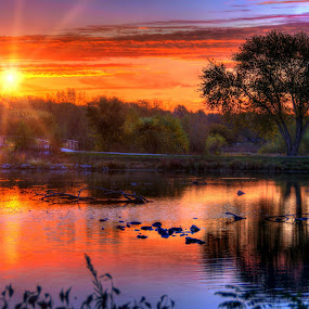 Holmes Lake by DE Grabenstein - Landscapes Sunsets & Sunrises ( nebraska )