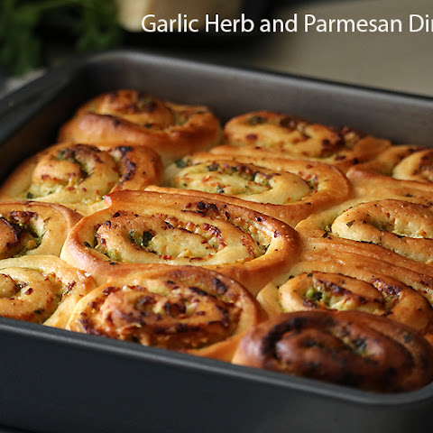 Garlic Herb and Parmesan Cheese Dinner Rolls