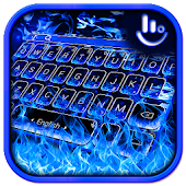 Blue Flame Fire Keyboard Theme