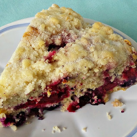 Cookie Crumble Triple Berry Buckle