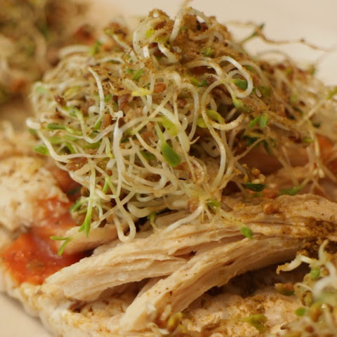 Great for Weight Loss – Alfalfa Sprout Chicken Rice Cracker