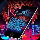 Neon Cool Tech Theme APK for Bluestacks