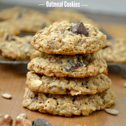 Chocolate Chip, Nut & Seed Oatmeal Cookies {Gluten-Free}