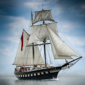 Fair Jeanne by Frank Kruller - Transportation Boats ( ocean, sailboat, boat, sailors, pirate )