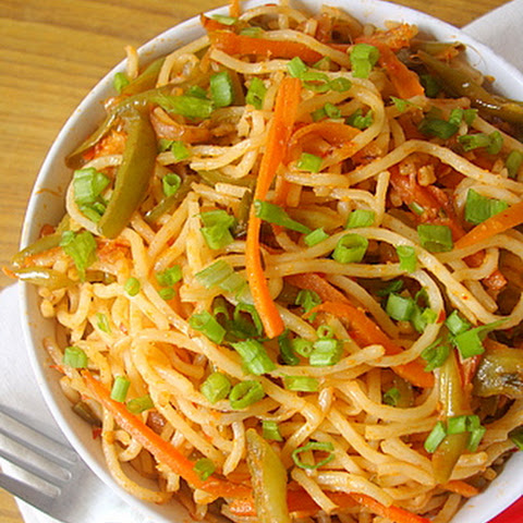 Indo Chinese Food ~ Schezwan Vegetable Noodles