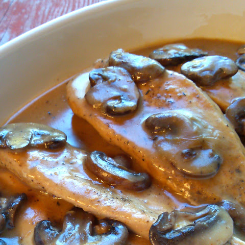 Crock Pot Smothered Chicken with Mushroom Gravy