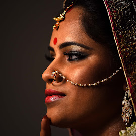 Expressions !!! by Tosh Tiwari - Wedding Bride ( wedding, beautiful, lovely, portrait, expressions )