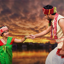 Traditional dress of Assam by Dipjyoti Sarma - People Couples