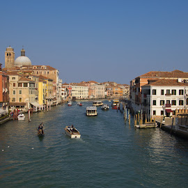 Grand Canal by Andy Dow - City,  Street & Park  Historic Districts ( grand canal, venice, landscape )